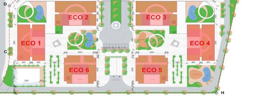 Mặt bằng dự án Eco Smart City