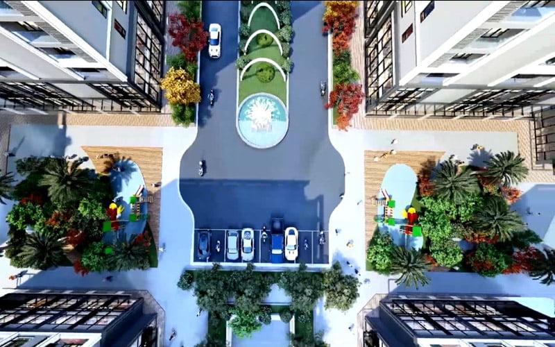 khuôn viên Eco Smart City Cổ Linh