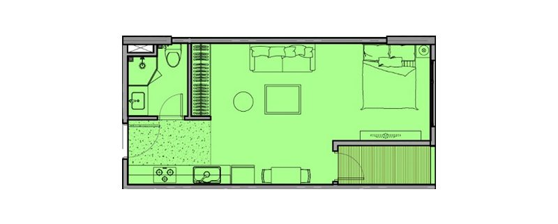 Thiết kế căn hộ 1 đến 4 phòng ngủ tại Eco Smart City